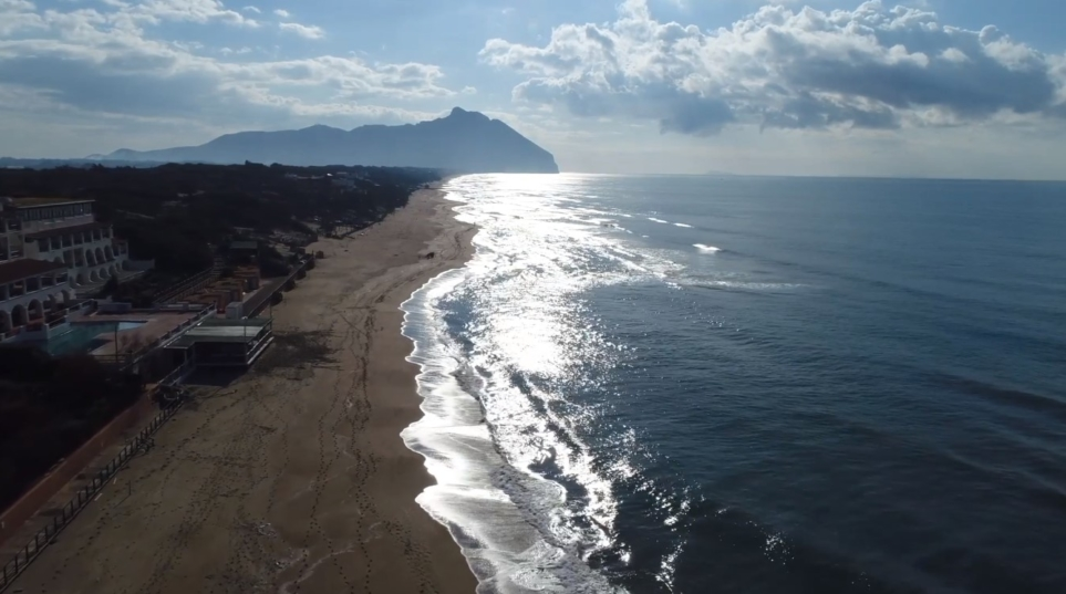 sabaudia-spiaggia-drone